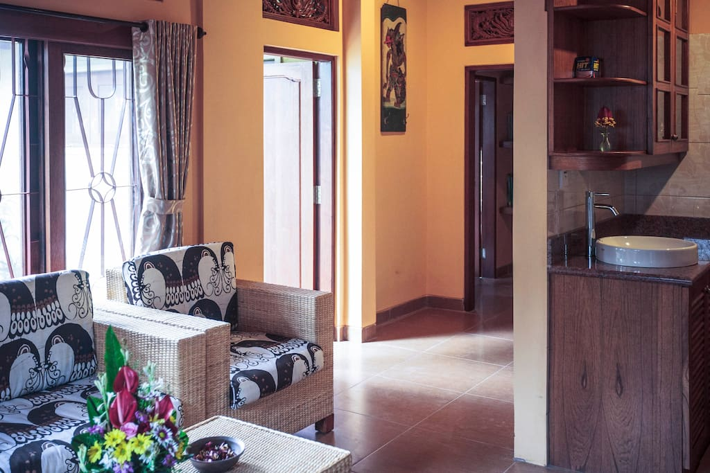Living Room, Sawo Apartment 1, Murni's Houses, Ubud, Bali