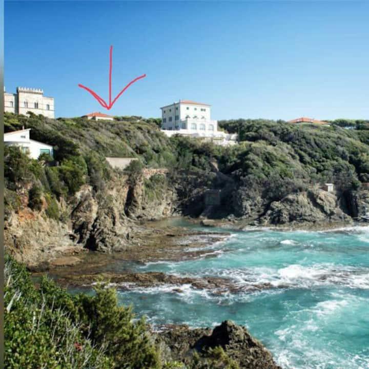 Bilocale  sul mare spiaggia privata
