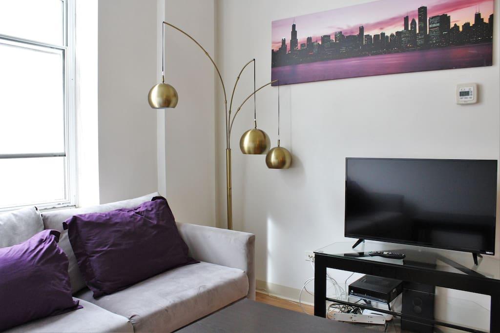 Living room - queen sleeper sofa! HDTV and wifi!