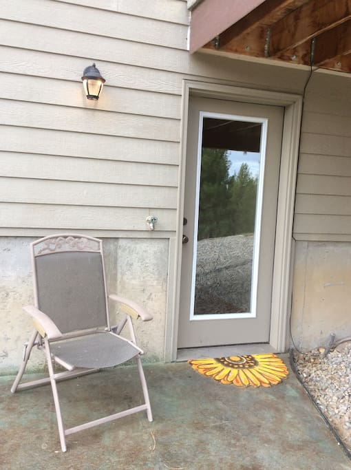 French door entry with separate parking. Private entrance.