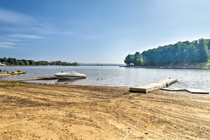This property is perfectly situated right across the street from Lake Sacandaga!