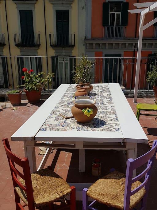 Il tavolo del terrazzo