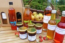 Produits artisanaux naturels en vente sur place !