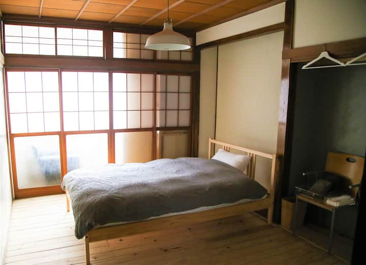 Room with two beds.