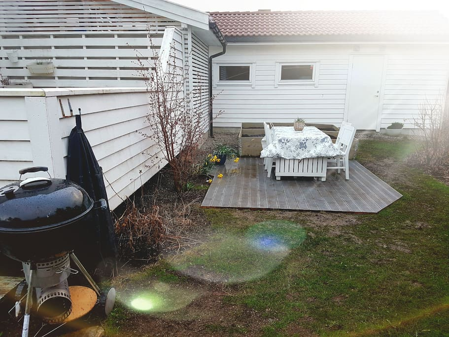 Your own recreation area with barbeque available for use.
