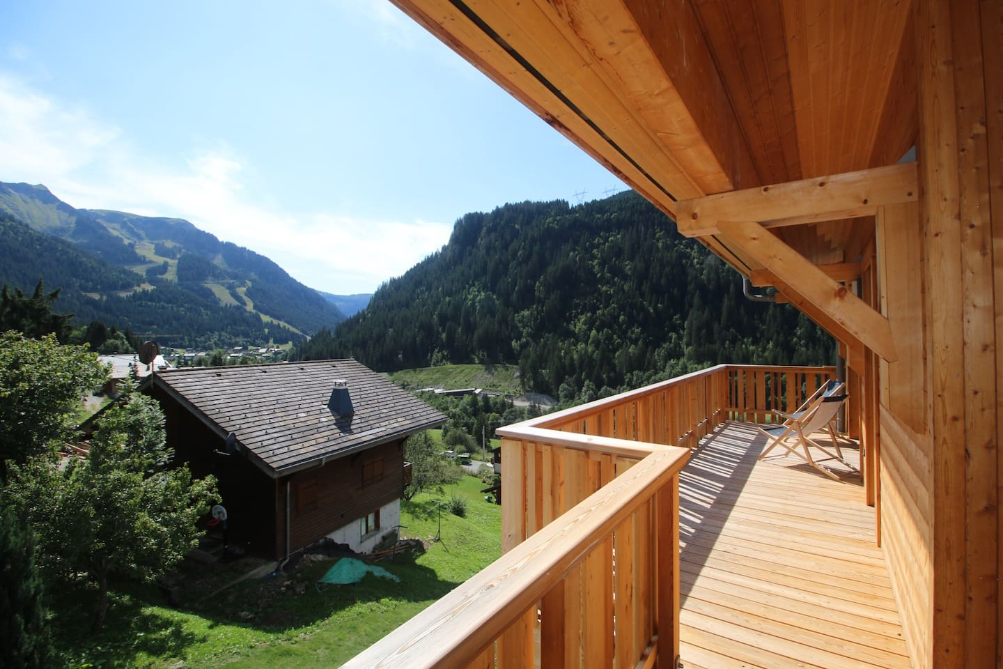 Balcony with a view, facing South