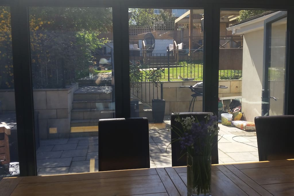 Looking out onto the garden