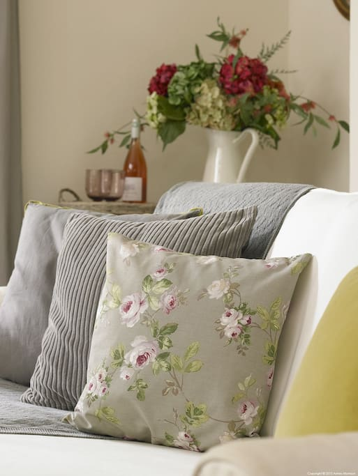 Tasteful provencal furnishings to ensure you feel comfortable and cosy in our home