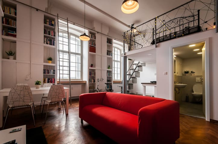 Vintage factory LOFT in the center + 2 free bikes - Ljubljana - Loteng Studio