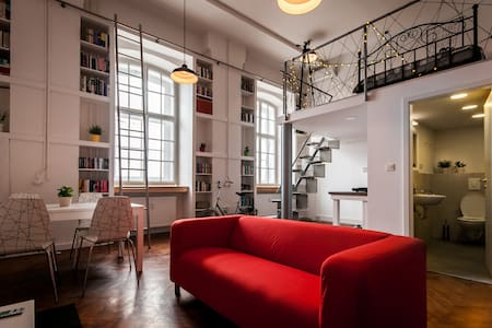 Vintage factory LOFT in the center + 2 free bikes - Ljubljana - Loft-asunto