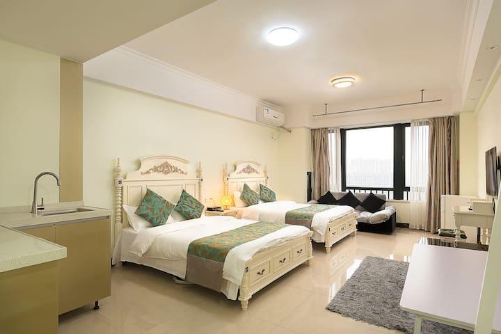 东莞考拉酒店式公寓(东城万达广场)美式田园双床房