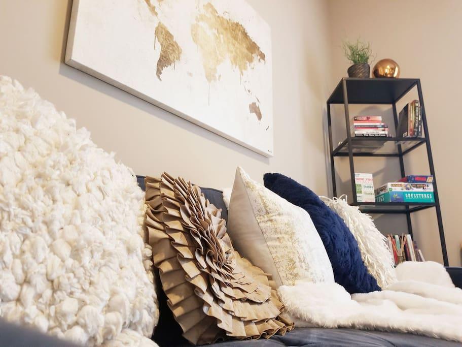 Plush pillow decor