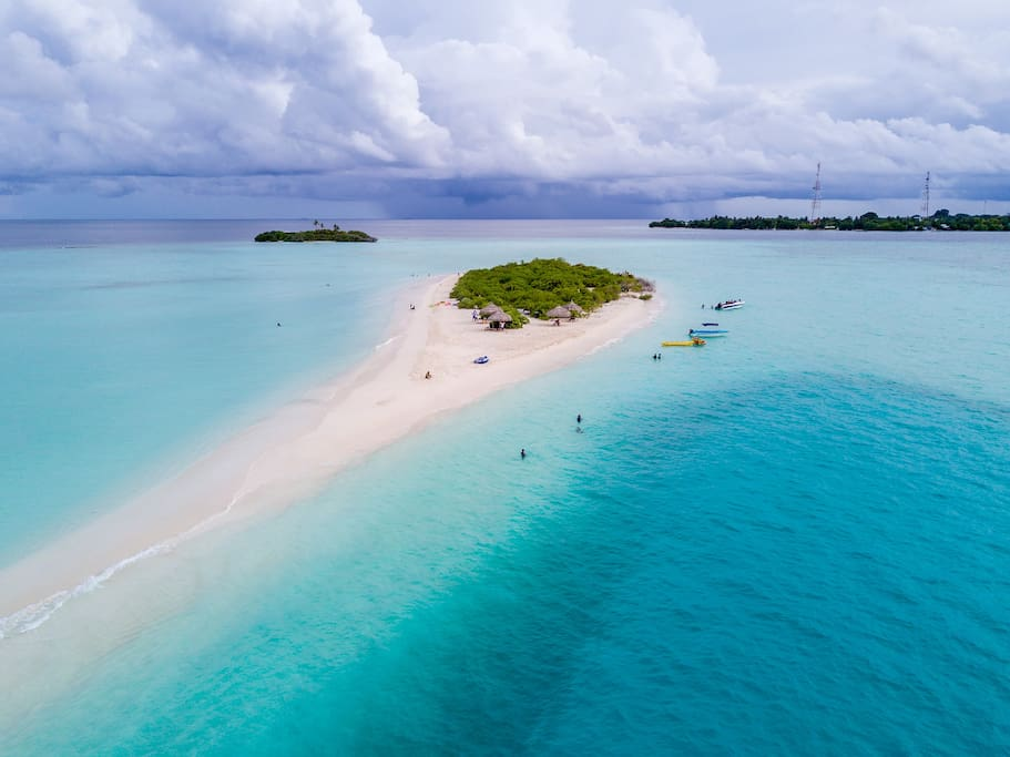 sand bank with blue hole