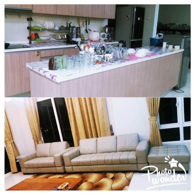 거실 및 주방