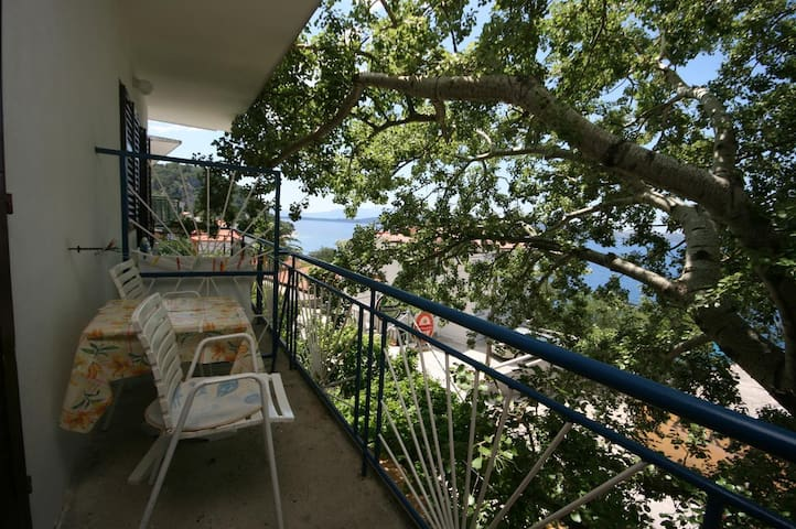 Studio flat with balcony and sea view Živogošće - Porat, Makarska (AS-1055-a)