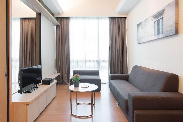 #02瑞园四星套房公寓 1R1B 吉隆坡市中心 N2302