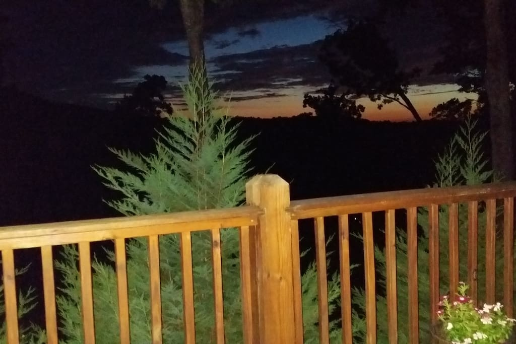 Sunset from the open air deck