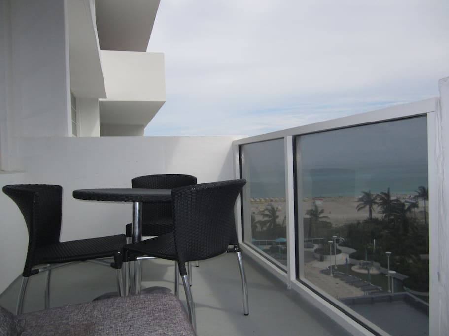 large balcony on ocean view