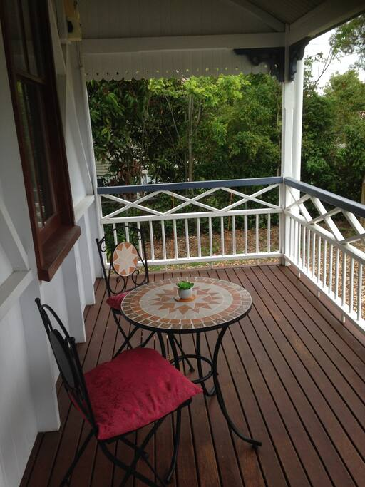 Enjoy sitting on the verandah sipping your coffee