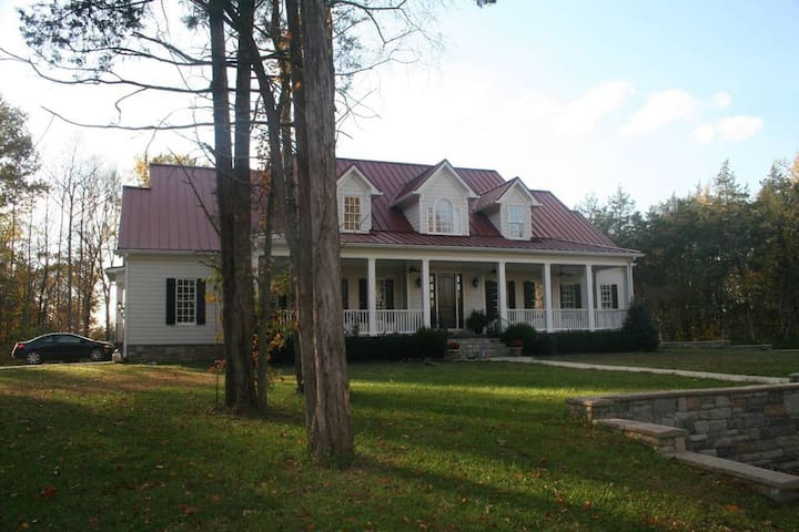 4 Bd Country Home on 10 Acres with Sport Court