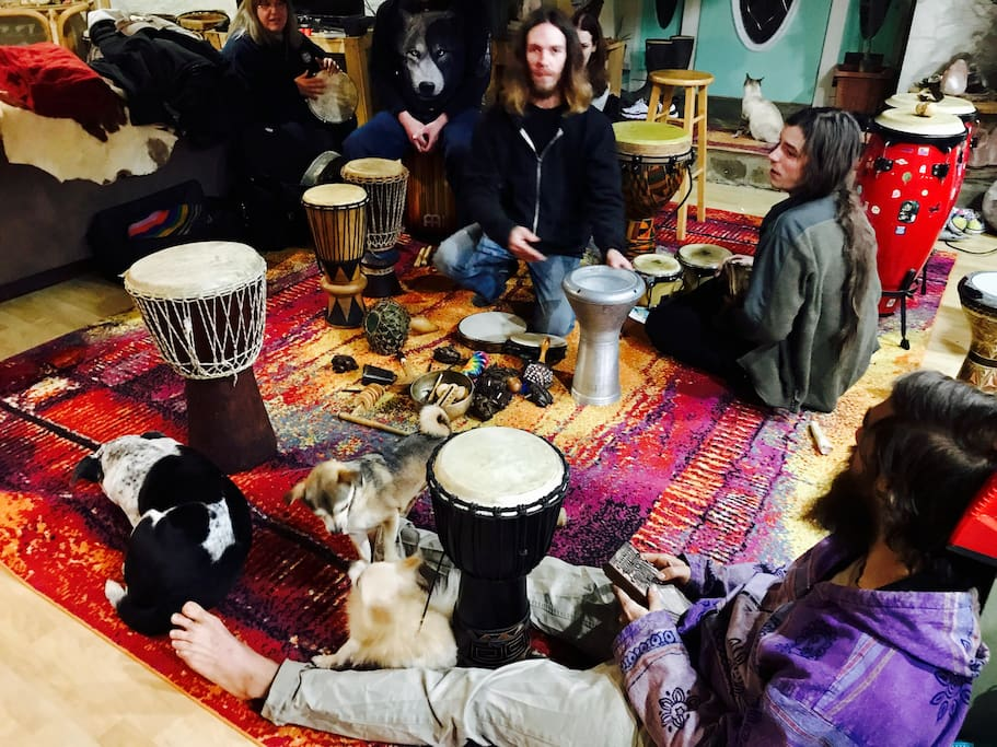 One of our community drum circles.