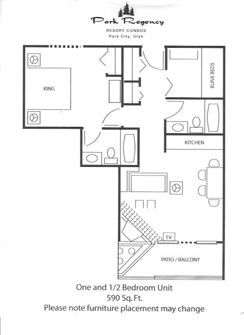 Master suite, bunk room, 2 Bathrooms and living area with patio or balcony. Sleeps Maximum of 6 people.
