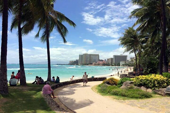 Aqua Aloha Surf Condo-Tel 6 minute to the Ocean