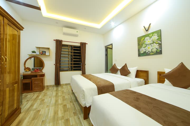 Family room in a modern homestay in Hoi An