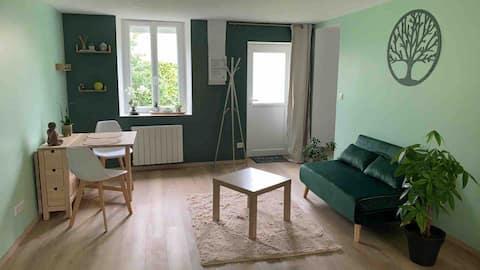 Studio cosy avec jardin privatif et accès rivière