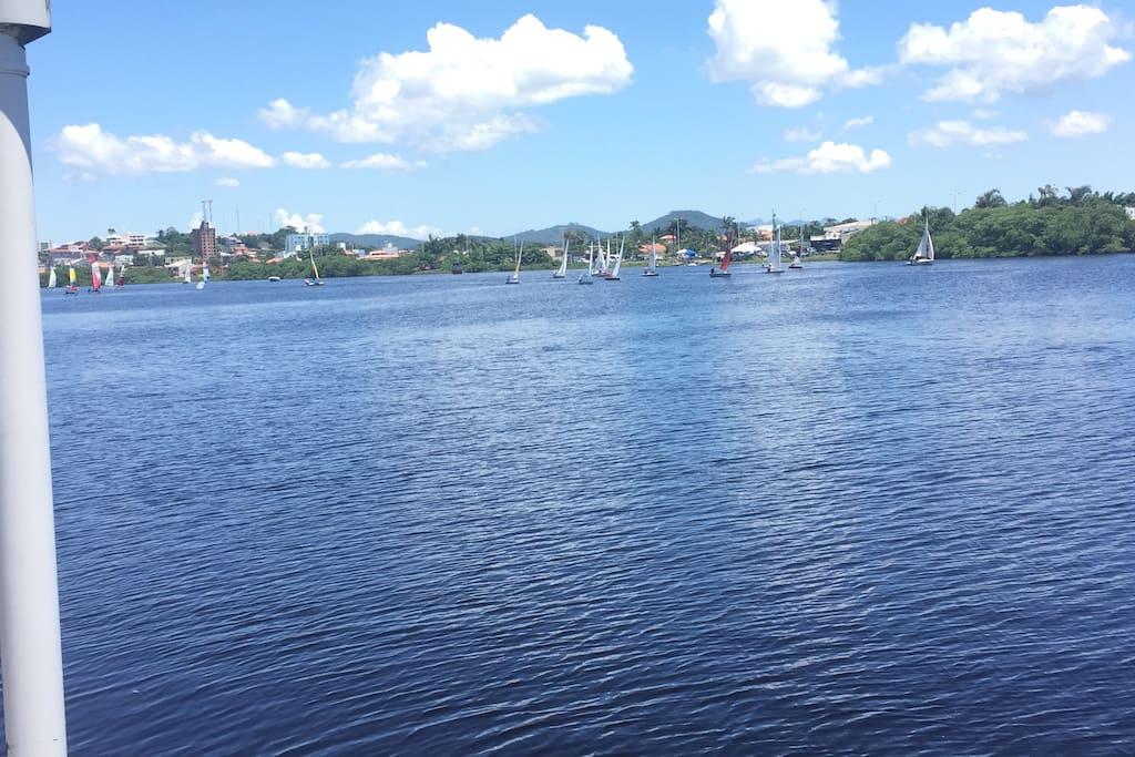 Lagoa de Barra Velha, fundos da residência.