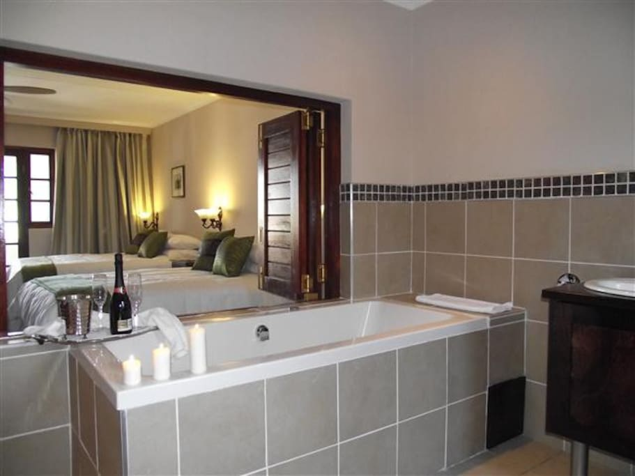 Your private bathroom complete with spa bath