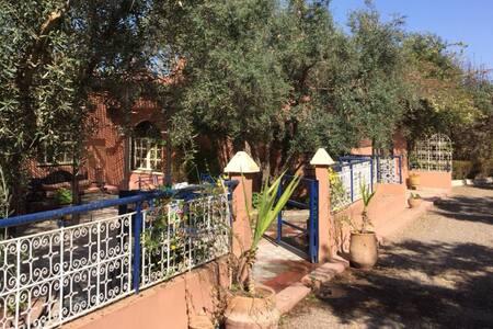 Maison dans une ferme d'olivier