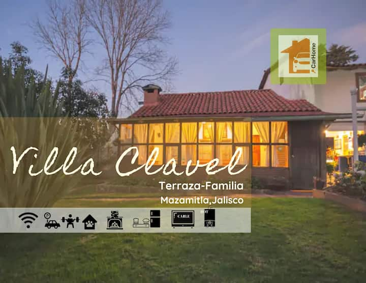 Villa Clavel, petfriendly, chimenea, Terraza, wifi