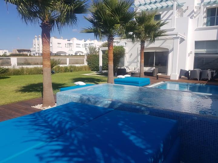 luxurious villa with stunning sea view