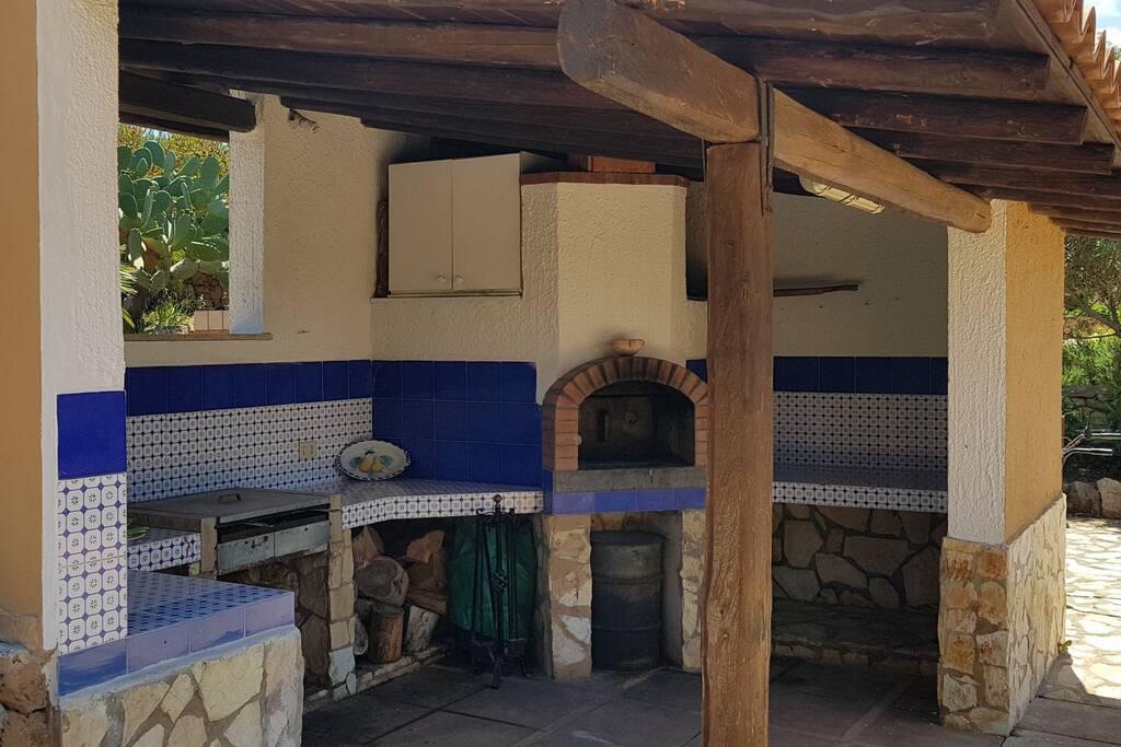barbecue e forno a legna