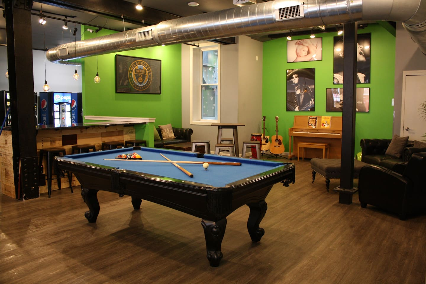 We have a free billiards table in our lounge along with a piano and guitars.