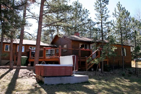 Mountain Pine Cabin with Personal Hot Tub - Dog-Friendly!