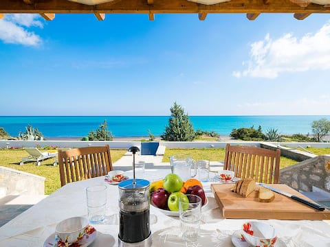 Luxus griechische Villa und privater Strand