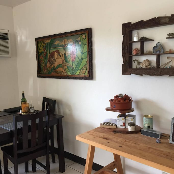 Local art and tea station