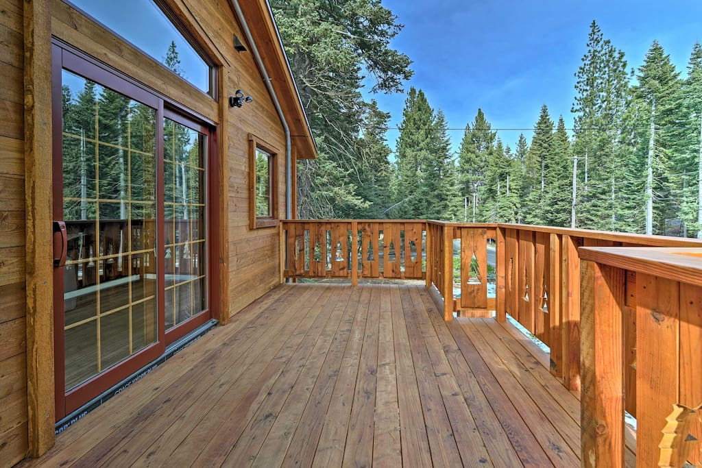 Up to 8 travelers will enjoy the scenic views from this home's 3 viewing decks.