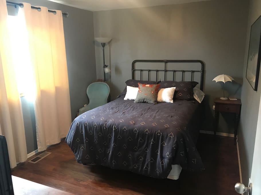 Guest room, which includes a closet that is not pictured