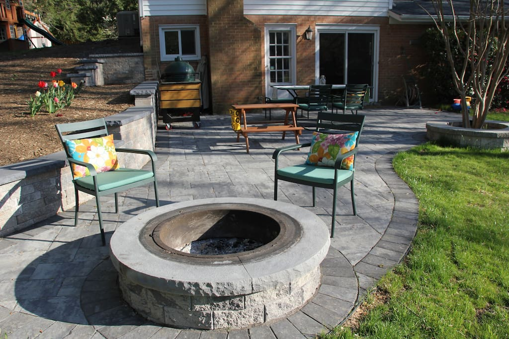 Large patio for entertaining