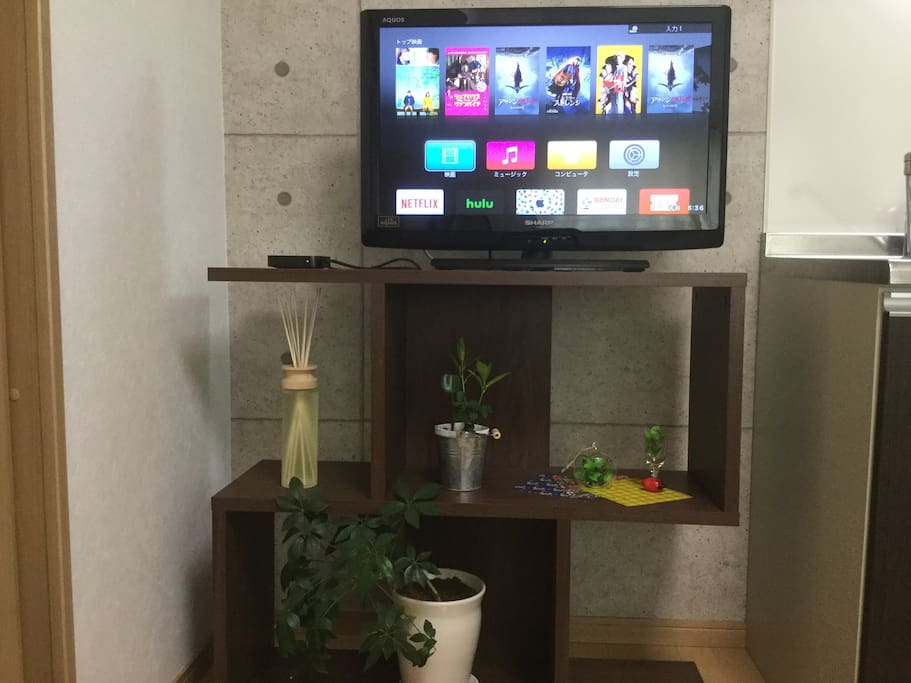 "☆Apple TV☆  ・You can watch youtube on TV. ・You can see movies and dramas from all over the world with ""Hulu"". ・テレビでYouTubeを見ることができます。"