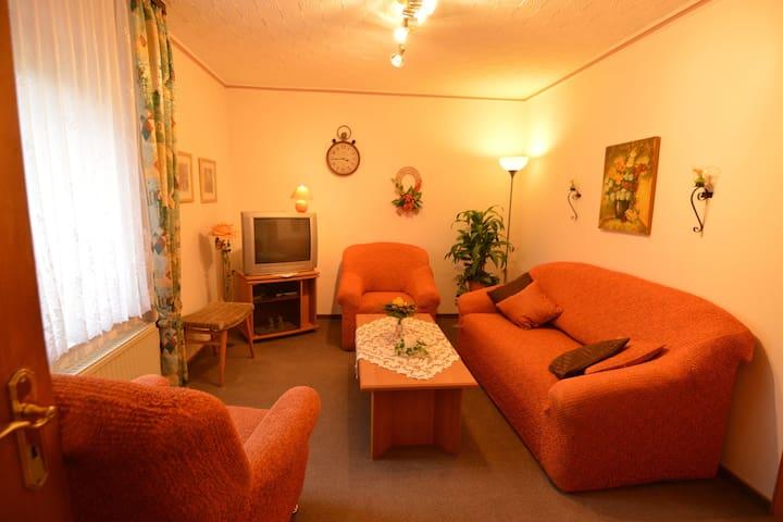 Ruim appartement in Deudesfeld met tuin