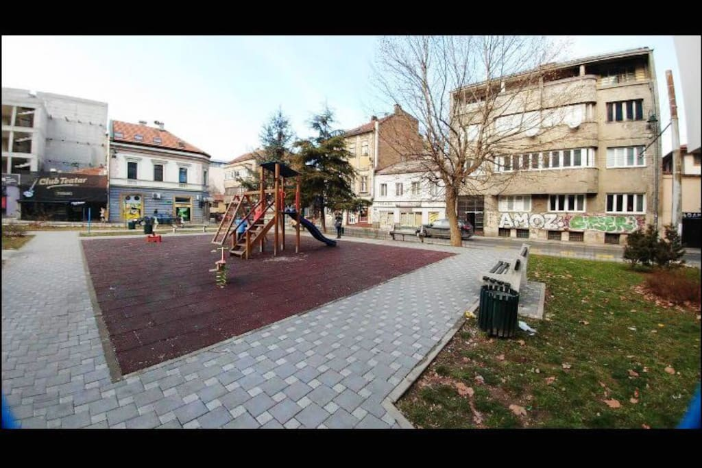 In a city center of Sarajevo