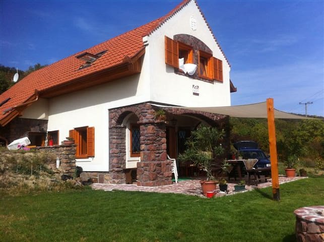 Lenyűgöző panorámájú klimatizált ház,borospincével