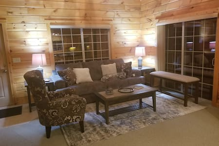 Log Lake House, 3 bedrooms w/ walkout lower level.