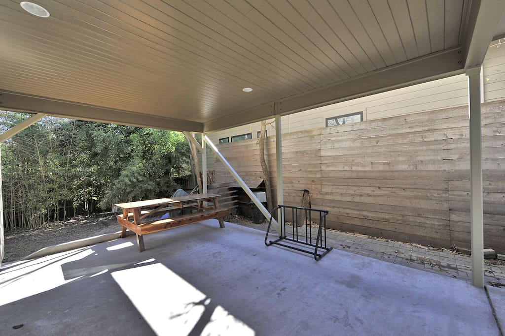 Covered picnic table for outdoor dinners