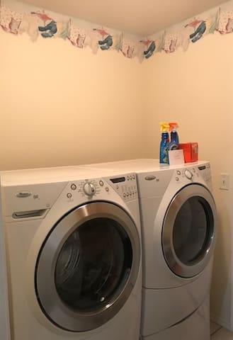 Laundry room is available for a fee of $5 which includes washing and drying a load.