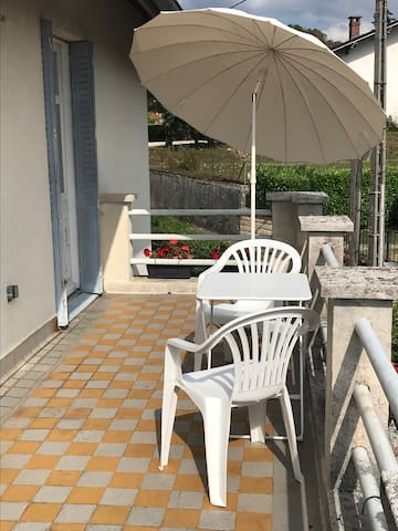 Terrasse, accessible de la chambre